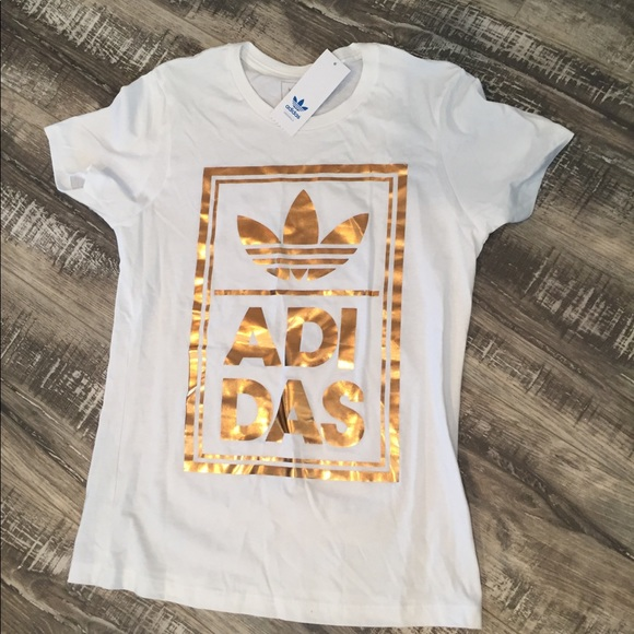 Adidas tops oro rosa t shirt NWT gran poshmark